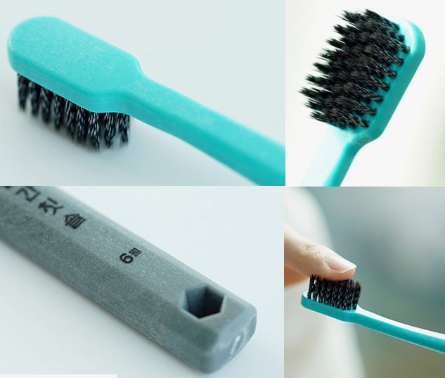 charcoal infused manual toothbrush